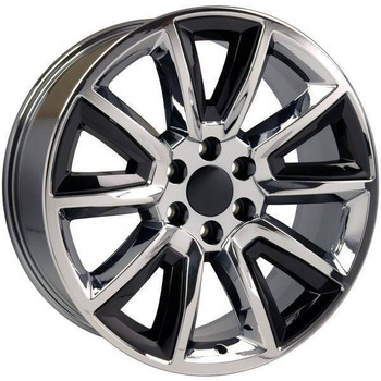 "22"" Chevy Avalanche replica wheel 2002-2013 Chrome Black Inserts rims 9507612"