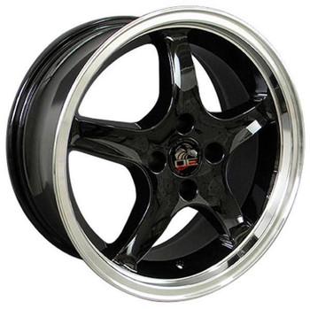 "17"" Ford Mustang   replica wheel 1979-1993 Black Machined rims 8181859"