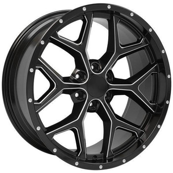 "22"" Chevy Blazer replica wheel 1992-1994 Satin Black rims 9507482"