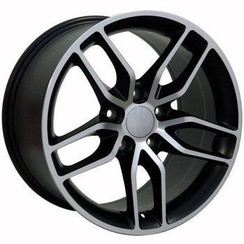 "17"" Chevy Corvette replica wheel 1988-1996 Black Machined rims 9507535"
