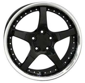 "18"" Pontiac Firebird replica wheel 1993-2002 Black Stainless Lip rims 6841292"