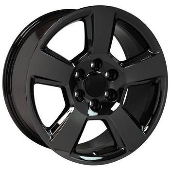 "20"" Chevy Avalanche replica wheel 2002-2013 Black Chrome rims 9507871"