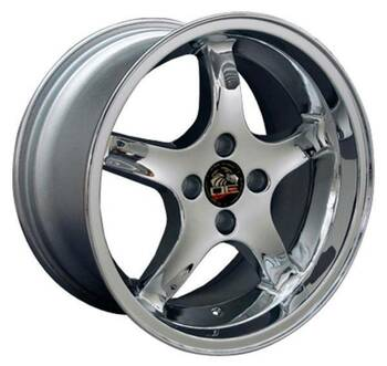 "17"" Ford Mustang   replica wheel 1979-1993 Chrome rims 8181864"