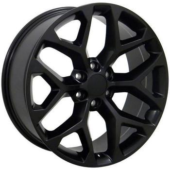"22"" Chevy C2500 replica wheel 1988-2000 Matte Black rims 9489809"