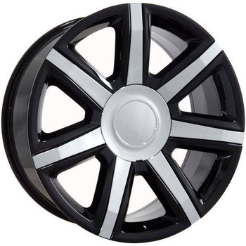 "22"" Chevy C2500 replica wheel 1988-2000 Black Chrome Inserts rims 9492013"