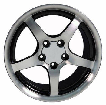 "17"" Pontiac Firebird replica wheel 1993-2002 Black Machined rims 5910559"