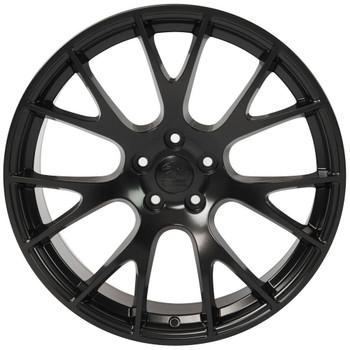 "22"" Satin Black Hellcat replica wheel for Dodge Ram replacement rims 9506585"