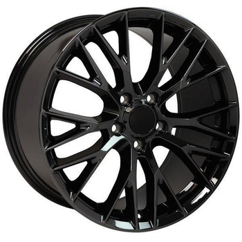 "19"" Chevy Corvette  replica wheel 2005-2013 Black Chrome rims 9507867"
