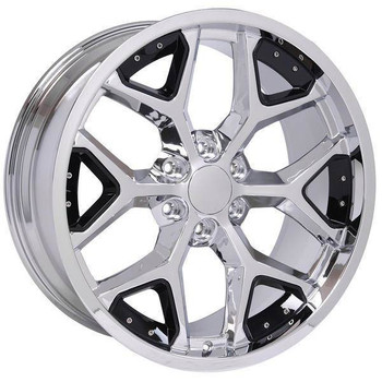 "22"" Chevy Blazer replica wheel 1992-1994 Chrome Black Inserts rims 9507479"