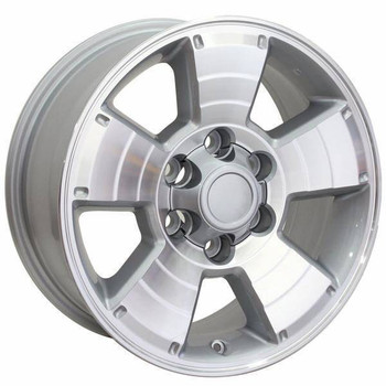 "17"" Toyota 4Runner replica wheel 1996-2018 Machined Silver rims 9472167"