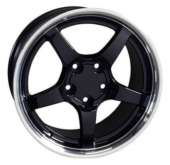 "17"" Pontiac Firebird replica wheel 1993-2002 Black Machined rims 5910209"