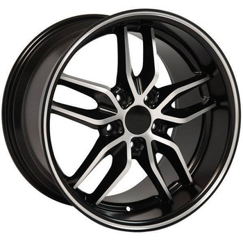 "18"" Chevy Camaro  replica wheel 1993-2002 Black Machined rims 9506931"