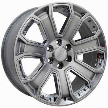 "20"" Chevy C2500 replica wheel 1988-2000 Hyper Black Chrome Inserts rims 9489925"