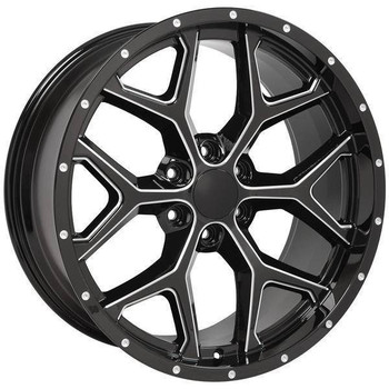 "22"" Chevy Blazer replica wheel 1992-1994 Black rims 9507481"