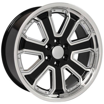 "22"" Chevy C2500 replica wheel 1988-2000 Black Chrome Inserts rims 9506712"