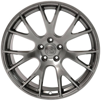 """22"""" Hypersilver Hellcat replica wheel for Dodge Charger replacement rims 9507542"""