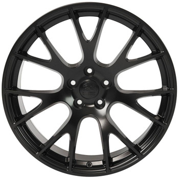 "22"" Satin Black Hellcat wheel replacement for Dodge Charger. Replica Rim 9507539"