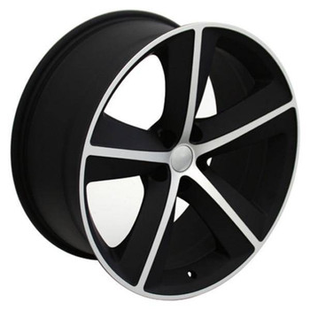 "20"" Dodge Challenger replica wheel 2009-2018 Black Machined rims 9453162"