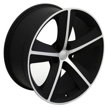 "20"" Dodge Challenger replica wheel 2009-2018 Black Machined rims 9453162"