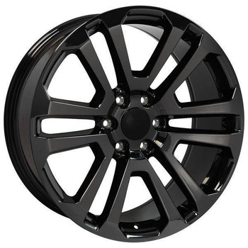 "22"" Chevy Avalanche replica wheel 2002-2013 Black Chrome rims 9507883"