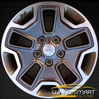 "17"" Jeep Wrangler oem wheel 2013-2017 Polished alloy stock rim 9118"