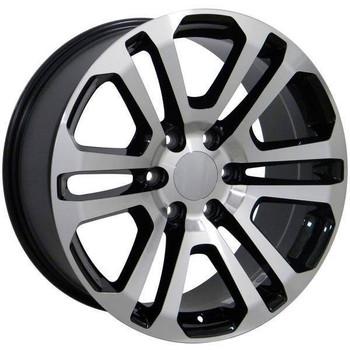 "22"" Chevy C2500 replica wheel 1988-2000 Black Machined rims 9489817"