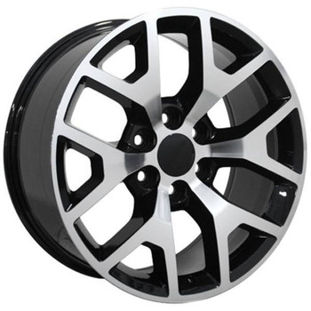 "20"" Chevy C2500 replica wheel 1988-2000 Black Machined rims 9471185"