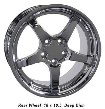 """18"""" Pontiac Firebird  replica wheel 1993-2002 Chrome rims 5910214"""