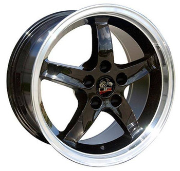 "17"" Ford Mustang replica wheel 1994-2004 Black Machined rims 8181899"
