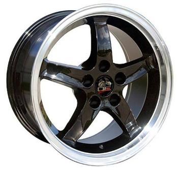 "17"" Ford Mustang replica wheel 1994-2004 Black Machined rims 8181899"