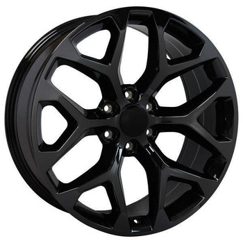 "20"" Chevy Avalanche replica wheel 2002-2013 Black Chrome rims 9507877"