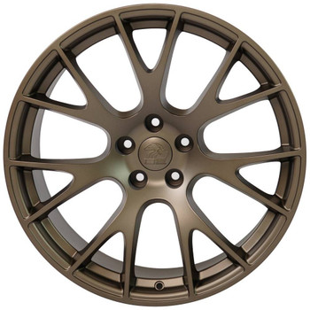 "22"" Bronze Hellcat wheel replacement for Dodge Charger. Replica Rim 9507541"