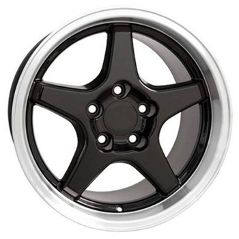 "17"" Pontiac Firebird  replica wheel 1993-2002 Black Machined rims 5910192"