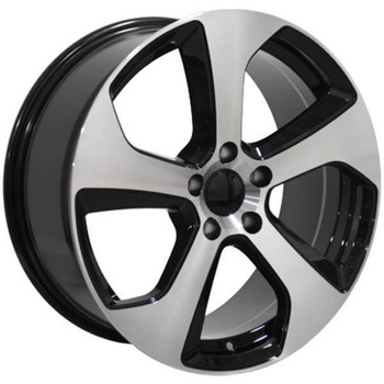"18"" Volkswagen VW GTI replica wheel 2006-2018 Black Machined rims 9472098"