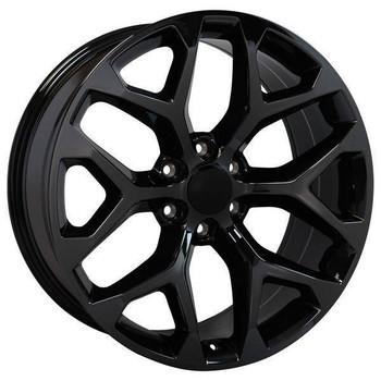 "22"" Chevy Avalanche replica wheel 2002-2013 Black Chrome rims 9507875"