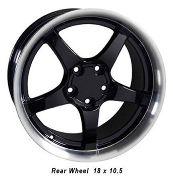 "18"" Pontiac Firebird  replica wheel 1993-2002 Black Machined rims 5910212"