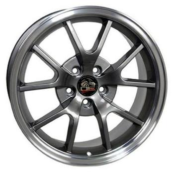 "18"" Ford Mustang  replica wheel 1994-2004 Gunmetal Machined Lip rims 8181972"