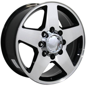 "20"" Chevy C3500 replica wheel 1988-2000 Machined Silver rims 9482305"