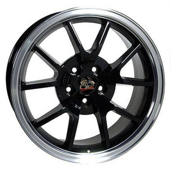 "18"" Ford Mustang replica wheel 1994-2004 Black Machined rims 8181969"
