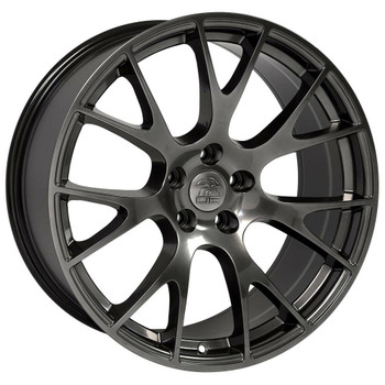 "22"" Hyper Black Hellcat wheel replacement for Dodge Ram. Replica Rim 9506588"