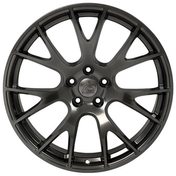 "22x10"" Dodge Ram Hellcat replica wheel Hyper Black rims 9506588"