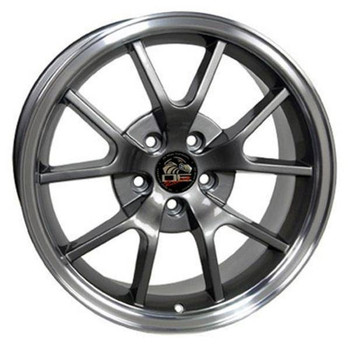 "18"" Ford Mustang replica wheel 1994-2004 Gunmetal Machined Lip rims 8181968"