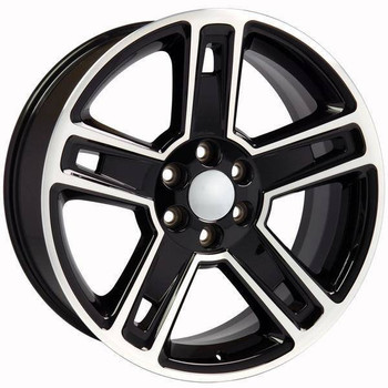 "22"" Chevy Avalanche replica wheel 2002-2013 Hyper Black Machined rims 9507618"