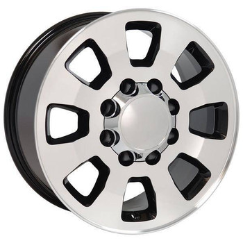 "18"" Chevy Silverado 2500 3500 HD replica wheel 2011-2015 Black Machined rims 9504053"