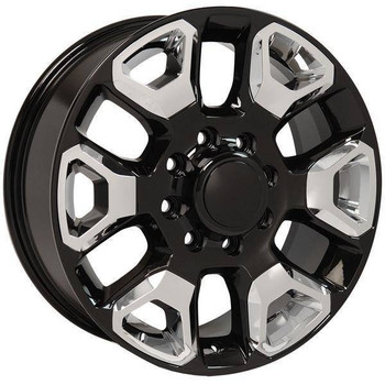 "20"" Dodge RAM 1500 Mega Cab replica wheel 2006-2008 Black Chrome Inserts rims 9507472"