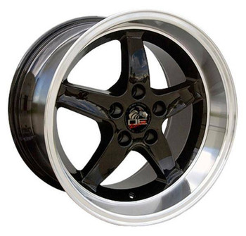 "17"" Ford Mustang   replica wheel 1994-2004 Black Machined rims 8181903"