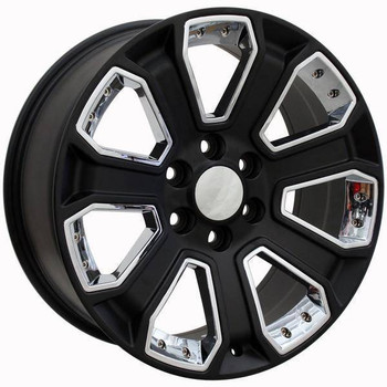 "20"" Chevy C2500 replica wheel 1988-2000 Black Chrome Inserts rims 9489920"