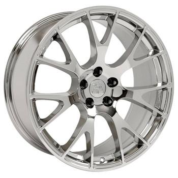 "22"" Chrome Hellcat wheel replacement for Dodge Ram 1500 2011-2018. Replica Rim 9506586"