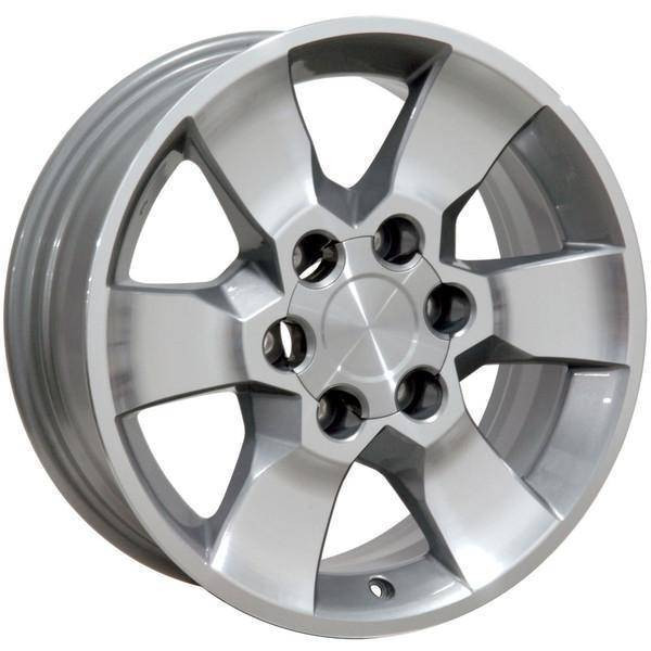 "17"" Toyota Tacoma replica wheel 2001-2018 Machined Silver rims 9491327"