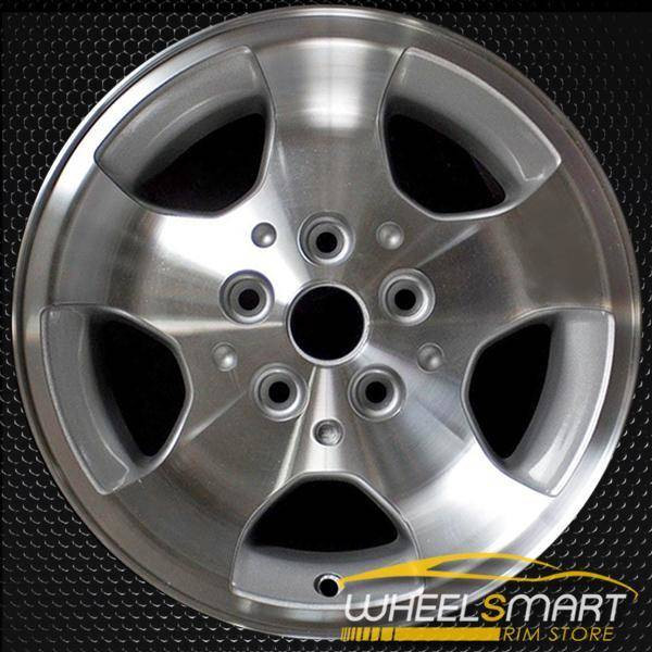 "15"" Jeep Wrangler OEM wheel 2000-2003 Machined alloy stock rim ALY09024U10"